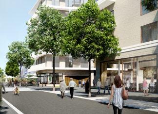 Promenade op nieuw stuk stad Nieuw Zuid te Antwerpen