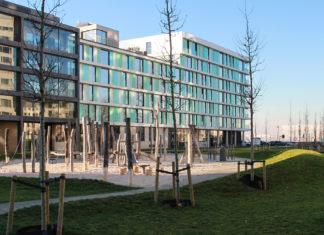 Kaai Nieuw Zuid op duurzame woonsite Nieuw Zuid te Antwerpen