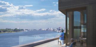 Uitzicht Schelde 21 op duurzame site Nieuw Zuid te Antwerpen