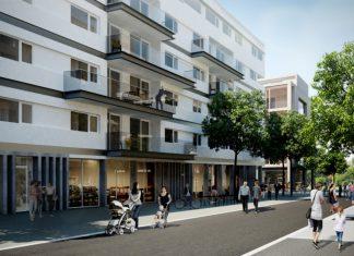 Promenade op Nieuw Zuid site te Antwerpen