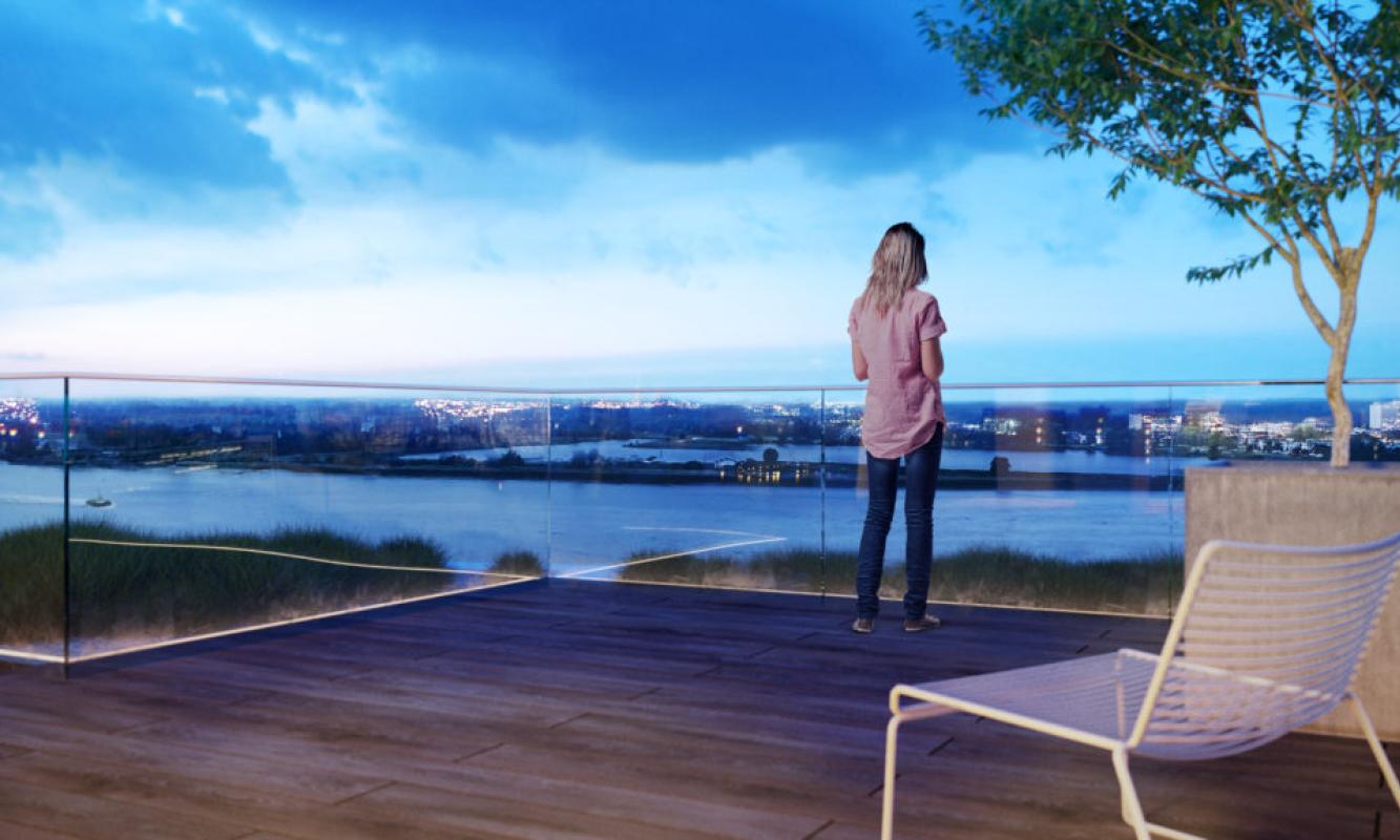 Uitzicht op Nieuw Zuid site te Antwerpen