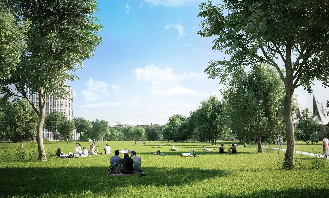 Park op Nieuw Zuid site te Antwerpen