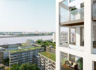 Zuiderzicht op duurzame site Nieuw Zuid te Antwerpen