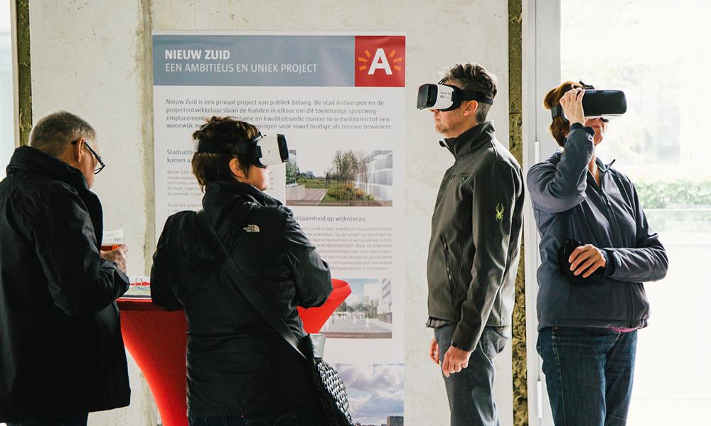 VR-brillen op Open Wervendag Nieuw Zuid Antwerpen