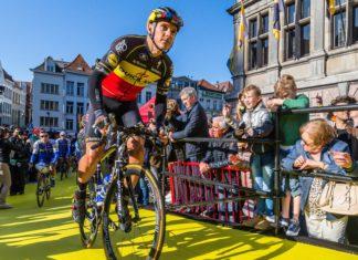 Philippe Gilbert op de Grote Markt te Antwerpen