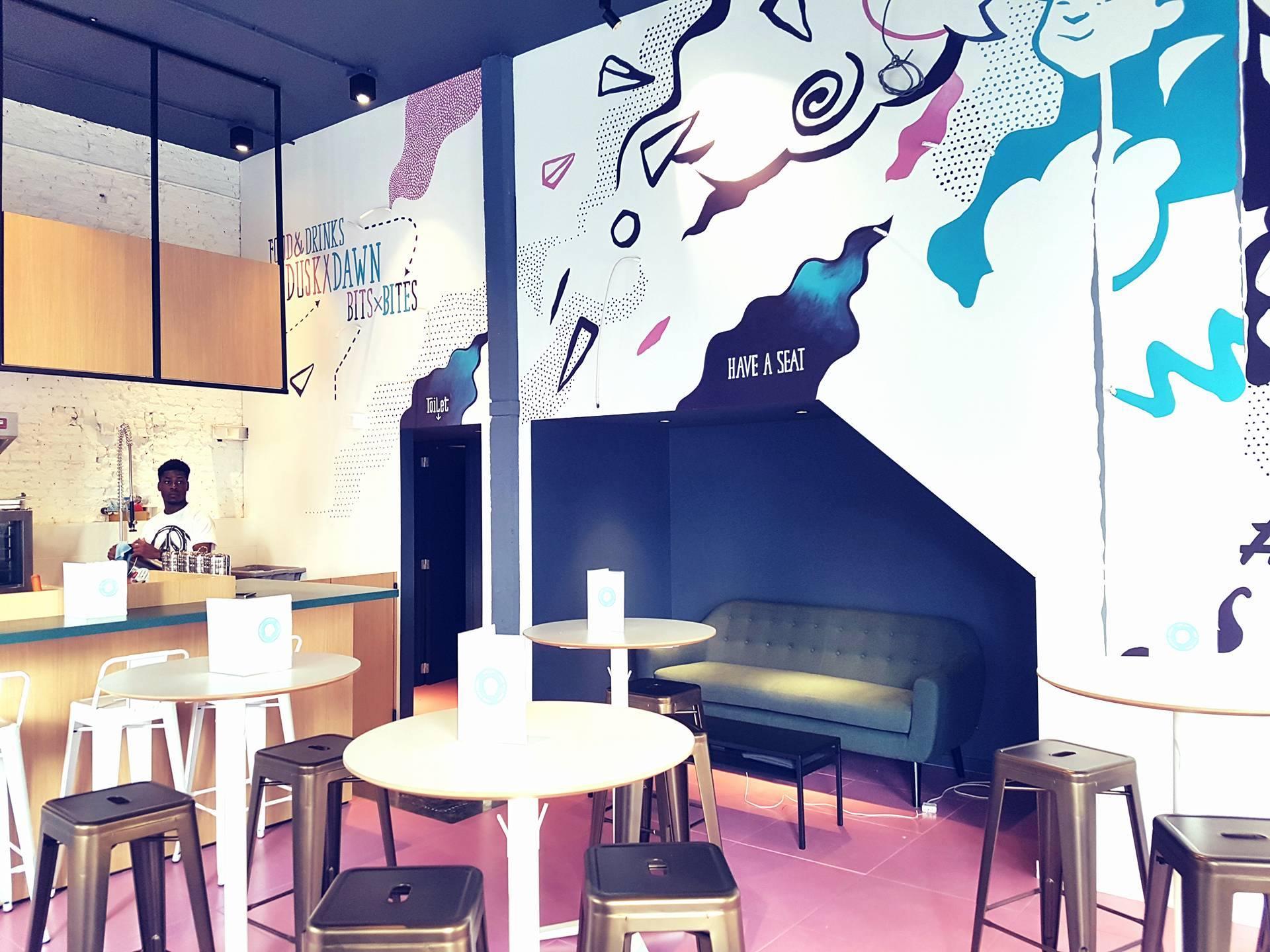 Interieur aziatisch restaurant Doi Doi in Antwerpen