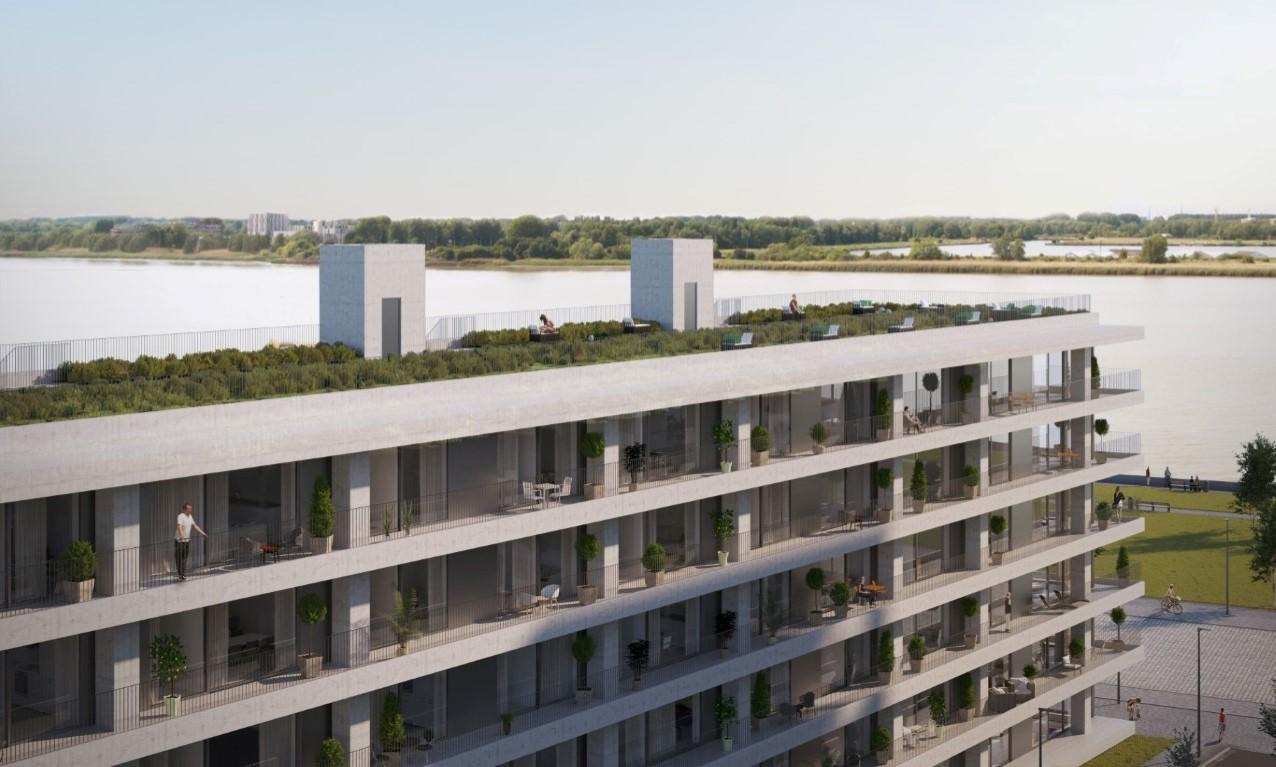 Interieur van nieuwbouwproject HAVN door Zweeds architect Norlander op Nieuw Zuid Antwerpen