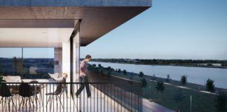 Uitzicht vanop nieuwbouwproject HAVN op Nieuw Zuid Antwerpen