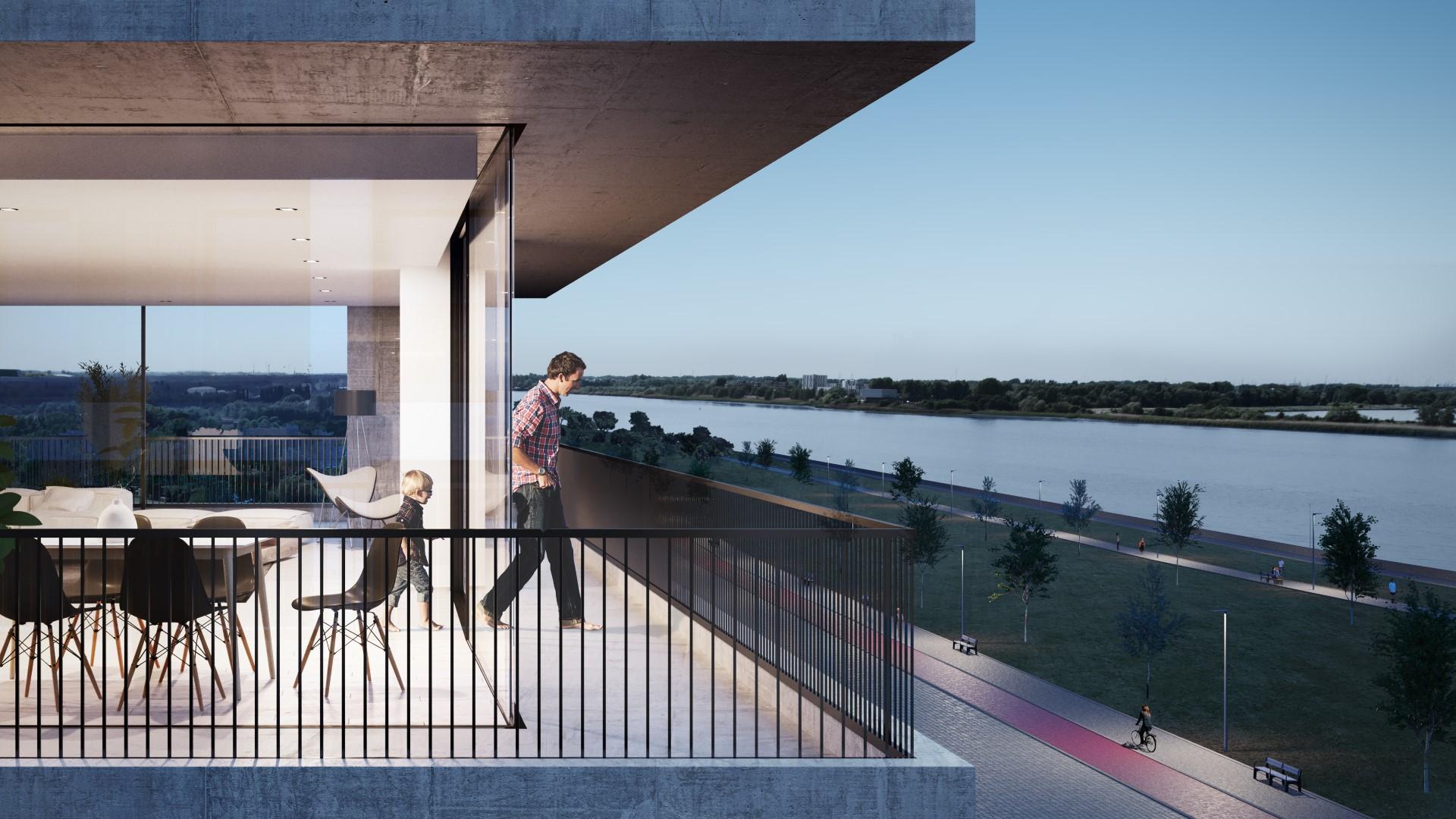 Terrasbeeld HÅVN ontworpen door Johannes Norlander op duurzaam project Nieuw Zuid