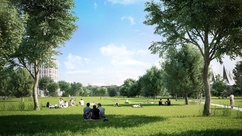 Het park van Nieuw Zuid in Antwerpen