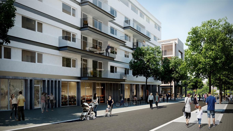 Levendige wijk Nieuw Zuid in Antwerpen